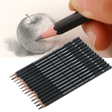 14pcs Best Quality 12B 10B 8B 7B 6B 5B 4B 3B 2B 1B HB 2H 4H 6H Graphite Sketching Pencils Professional Pencil Set for Drawing