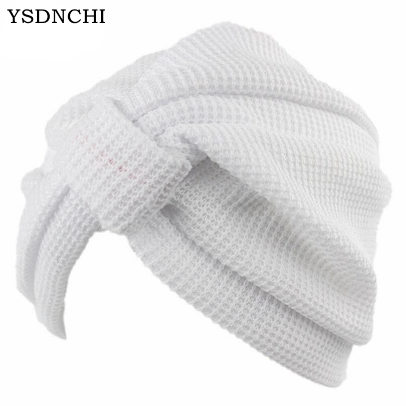 YSDNCHI Women Hat Skullies Cotton Stretch Hooded Cap Hooded Head Wrap Band Sleep Hats Knitting India Caps High Quality Beanies chsdcsi pleuche women turban caps twist dome caps head wrap europe style india hats womens beanies skullies for fall and spring