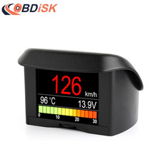 A202 2.4″ Car OBD HUD Multi-function Digital Meter Alarm Speed Water TEMP HeadUp Display OBD Driving Computer Display