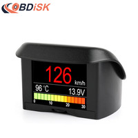 A202 2.4 Car OBD HUD Multi function Digital Meter Alarm Speed Water TEMP HeadUp Display OBD Driving Computer Display