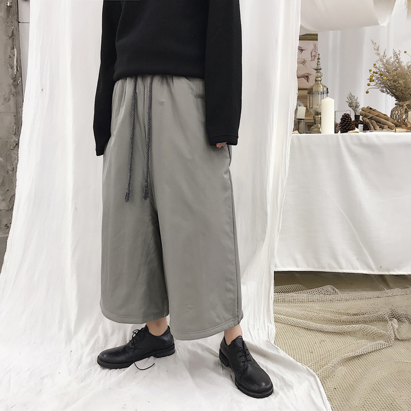 MIXCUBIC Wide Leg Padded-Pants Loose Korean-Style Winter Casual Warm Autumn Men