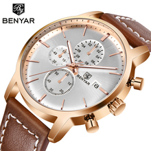 BENYAR Mens Watches Business Fashion Military 30M Waterproof Sports Chronograph Top Brand Luxury Reloj Hombre 2019