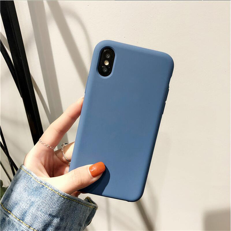 Original Silicone Case on iPhone 7 8 6 6S Plus X 5s 07