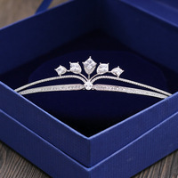 MANWIILuxury mô hình Châu Âu và Hoa Kỳ đơn giản zircon cô dâu vương miện đồ trang trí tóc wedding dress accessoriesHL1701