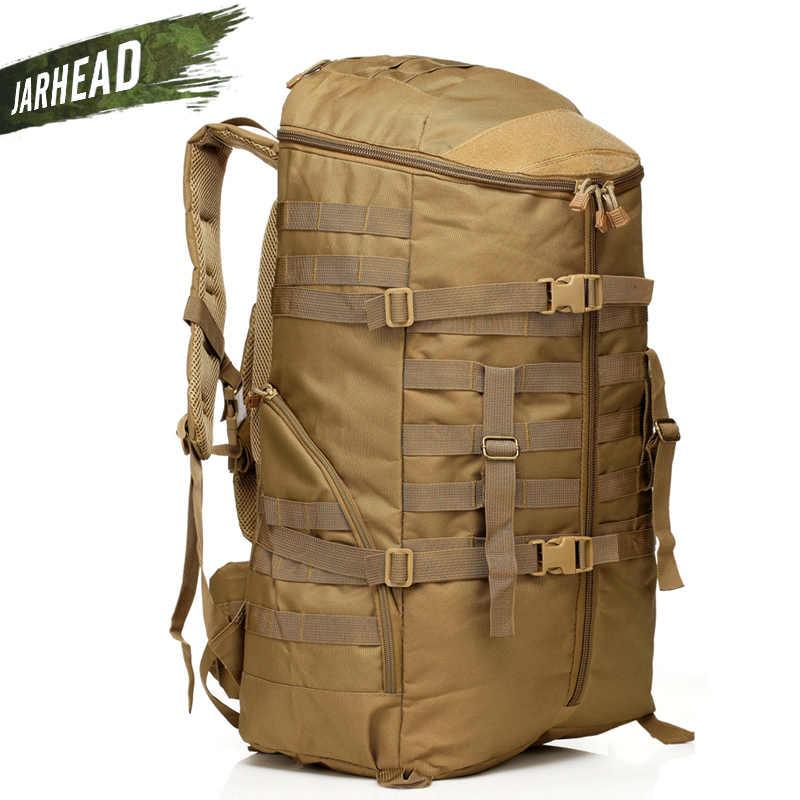 كبيرة!! 55L حقيبة ظهر تكتيكية للحماية من الهجمات في الهواء الطلق التخييم المشي ركوب كبيرة على ظهره متعددة الوظائف المشي لمسافات طويلة الرياضة حقيبة الظهر