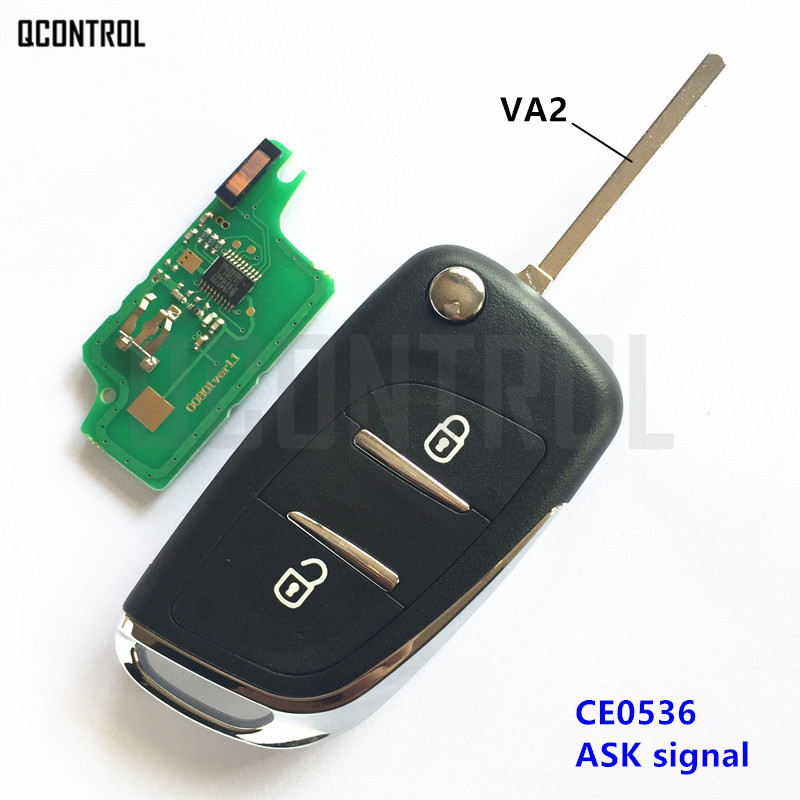 QCONTROL Upgraded Remote Key Suit for CITROEN C3 Picasso (2006 - 2010) / C3 Plueriel (20 ...