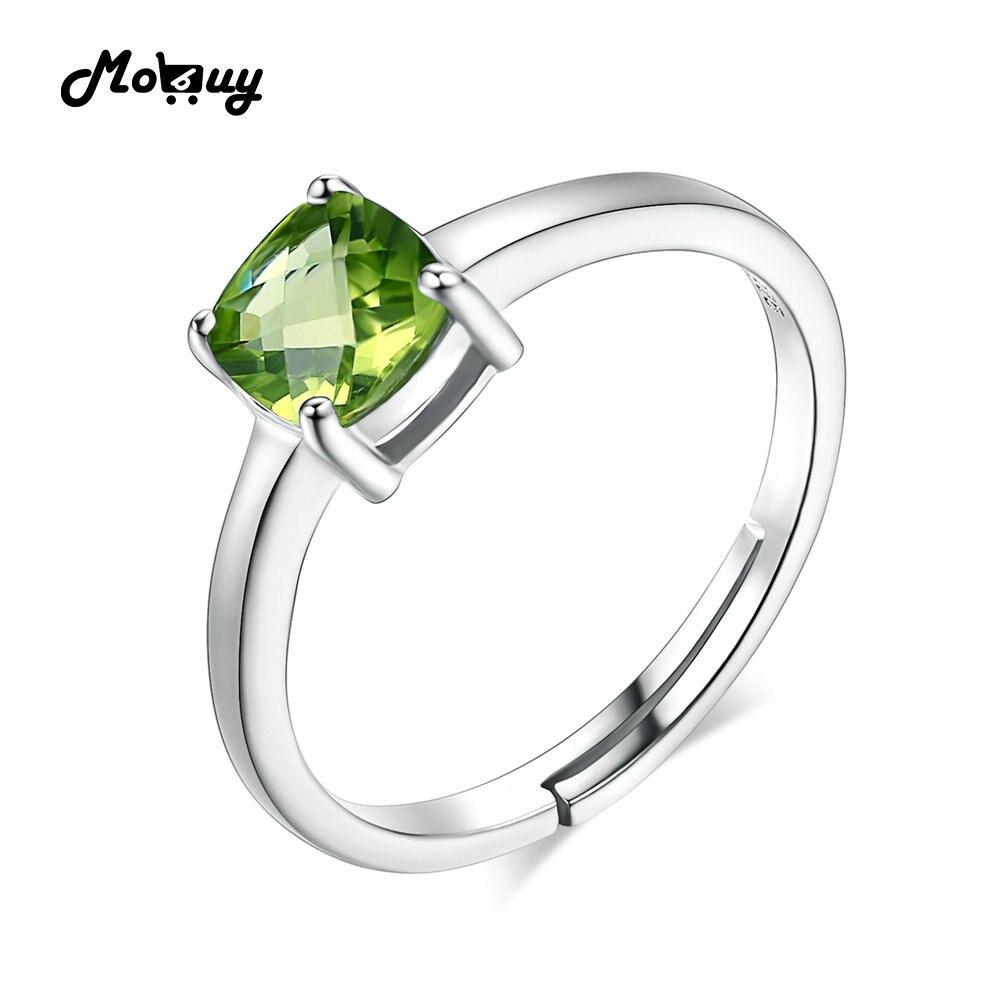 MoBuy MBRI037 Nieuwe eenvoudige edelsteen groene Peridot - Fijne sieraden