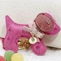 Creative Novelty Leather Animal Keyrings Fashion Keychain Bag Charm For Women Girl Handbag Pendant Trinket Tassel Key Chain Ring