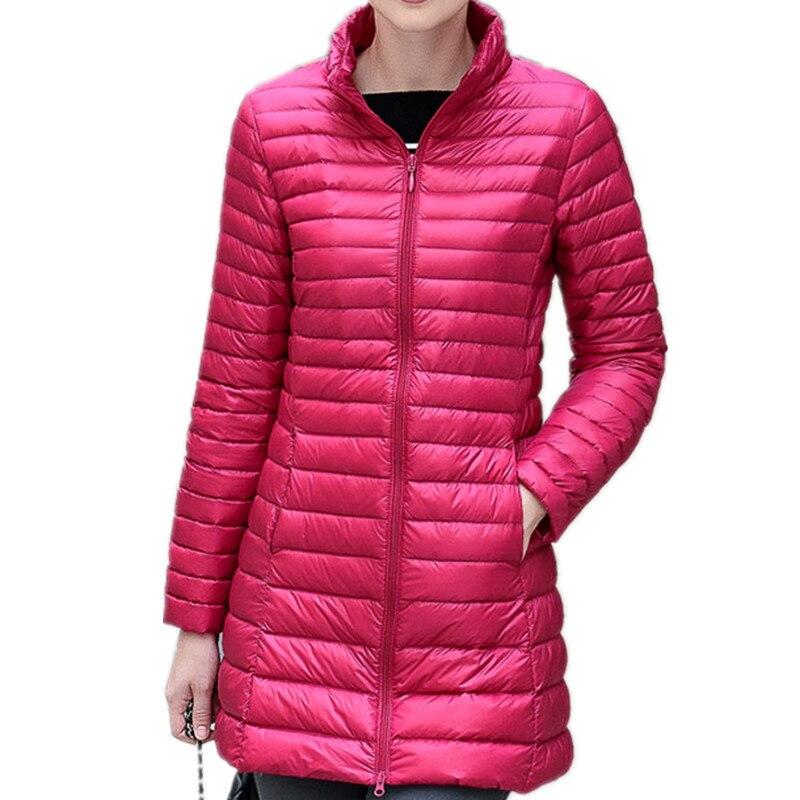 New Autumn Winter Fashion Slim Long   Down     Coat   Women Ultra Light 90% White Duck   Down   Jacket Women Windproof Outwears Female Mw556