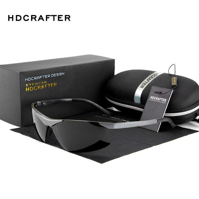 New 2016 HDCRAFTER Brand Fashion Sports Driving Car Aluminum Pilot Uv Protection Man Sunglasses Antiglare E806