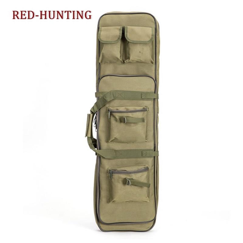 Bolsa de Rifle Tático Case Arma Dupla Mochila Caça Militar Airsoft Tan 85cm 120cm 100cm