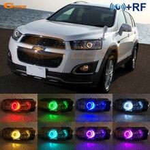 Для Chevrolet Captiva 2012 2013 RF Bluetooth контроллер многоцветный ультра яркий RGB светодиодный ангельские глазки Halo Ring kit