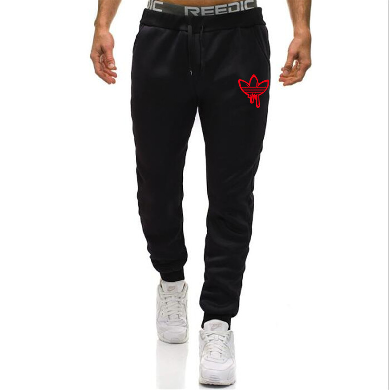 New Men Joggers Brand New Male Trousers Casual Pants Sweatpants Jogger grey Casual Elastic cotton GYMS Fitness Workout pants(China)
