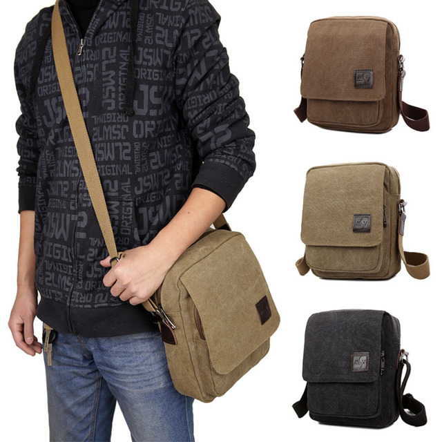 Men Bags 2016 New Men Messenger Bags Canvas Men Handbags Spring and Summer Travel Bags 3 Colors 21*26*8CM Srtip 150CM