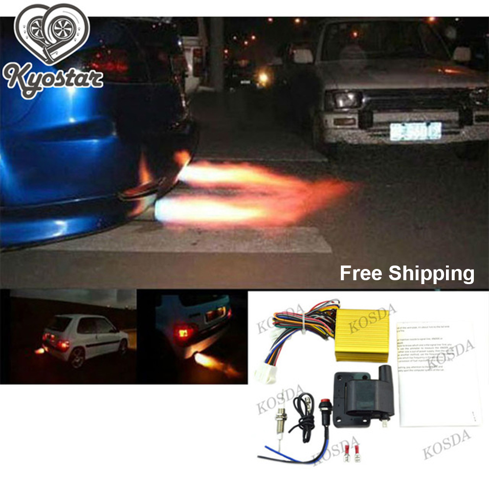 Exhaust Flame Thrower Kit Universal For Car Motor ATV Fire Burner Afterburn Well