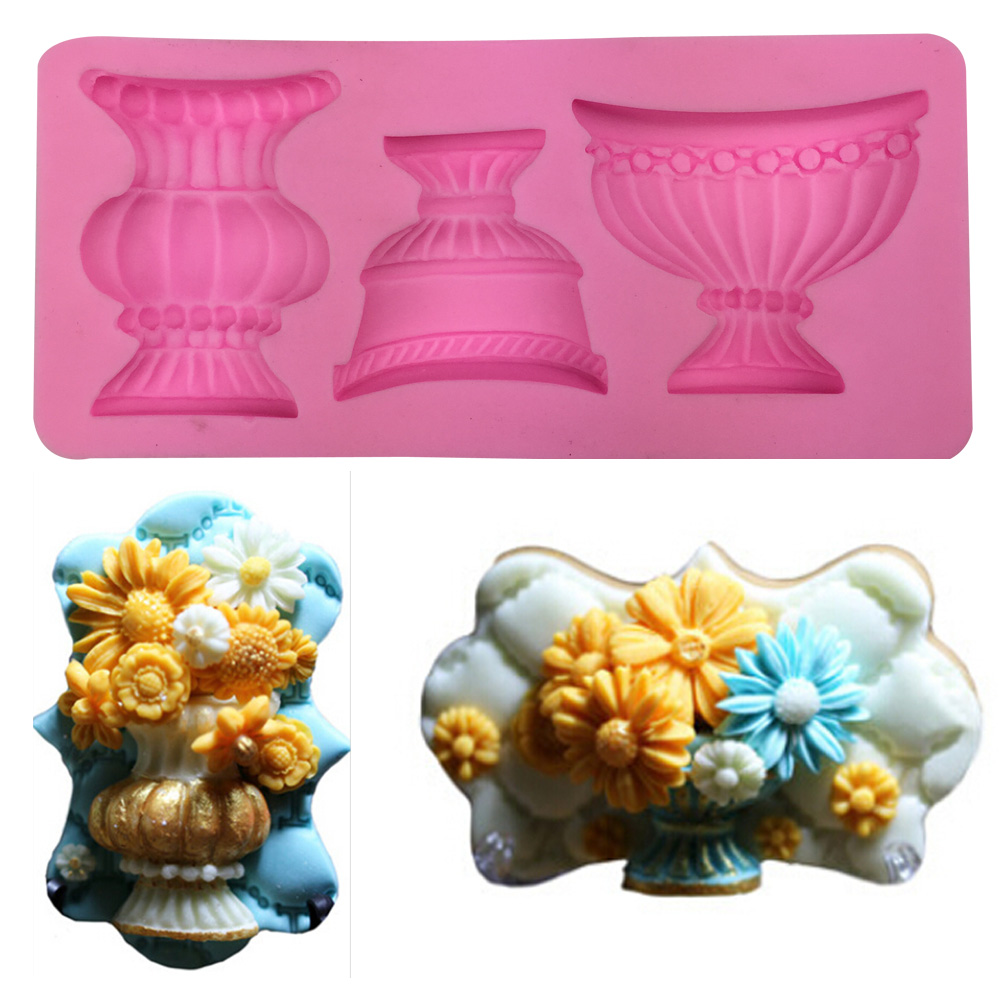 Free shipping silicone mold soap baskets spilled <font><b>cup</b></font> <font><b>of</b></font> <font><b>chocolate</b></font> fondant cake decoration baking kitchen tool FT-303
