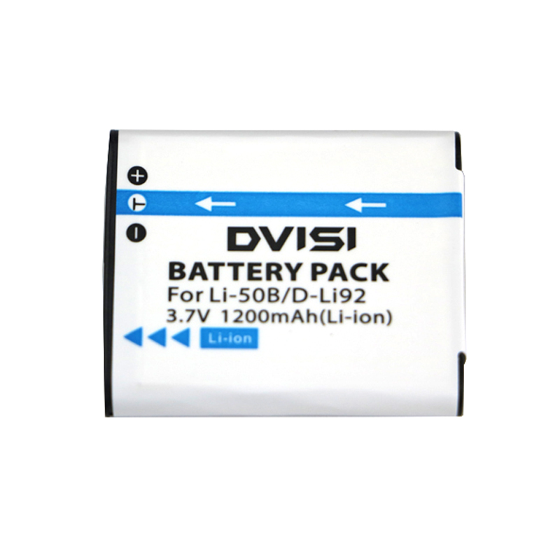 DVISI 3.7V 1200mAh LI-50B LI 50B LI50B Camera Battery for Olympus LI-50B LI 50B LI50B for Pentax D-LI92 XZ-1 SP-800UZ SZ-30MR pentax sp 12x50