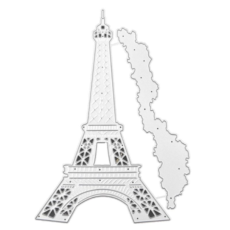 OOTDTY Tower Metal Cutting Dies Stencil DIY Scrapbooking Album Stamp Paper Card Embossing Crafts Decor