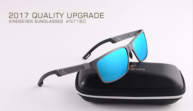 2017 New KINGSEVEN Polarized Sunglasses Men Brand Designer Male Vintage Sun Glasses Eyewear gafas oculos de sol masculino N7180 1