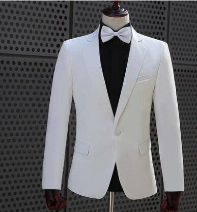 Chorus Host Wedding Suits For Men Groom Blazer Boys Prom Mariage Suits Fashion Slim Masculino Latest Coat Pant Designs White Tie