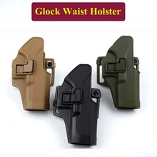 ФОТО Tactical Hunting Accessories Glock Waist Holster Gun Holster Shooting Airsoft Pistol Belt Holster  Glock 17 19 22 23 31 32