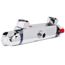 Современный хром термостатический душевой смеситель бар Замена клапан выход дома ванная комната аксессуар настенный душ античный