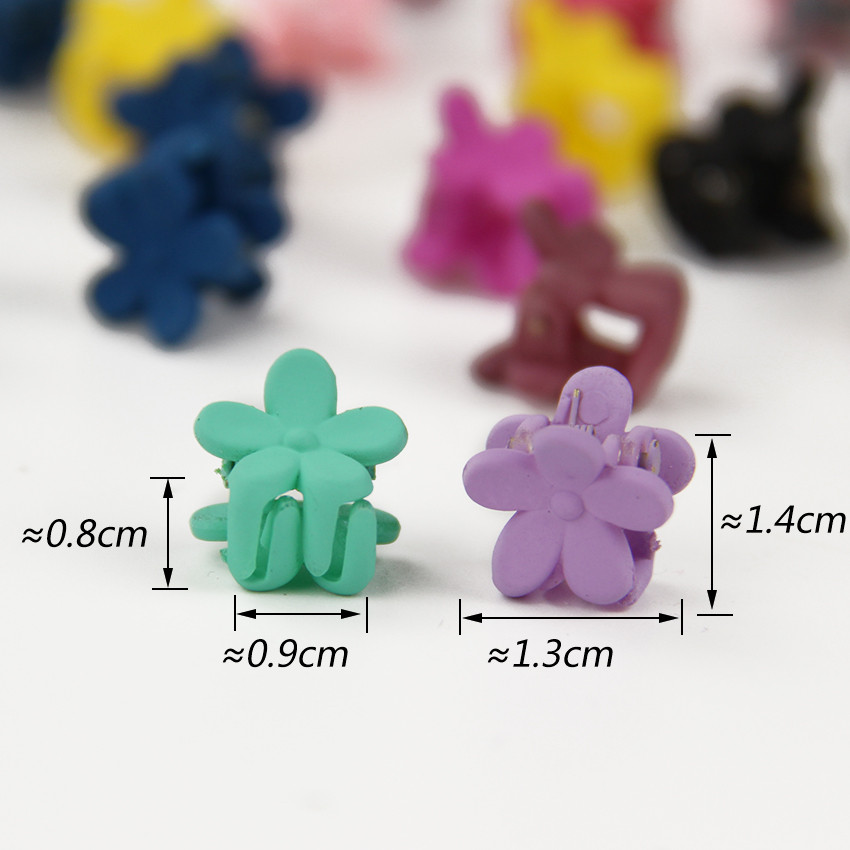 HTB1ItDJOXXXXXaYXpXXq6xXFXXXw Cute Girls Multicolored Small Flowers Fashion Clip Clamps - 16 Colors