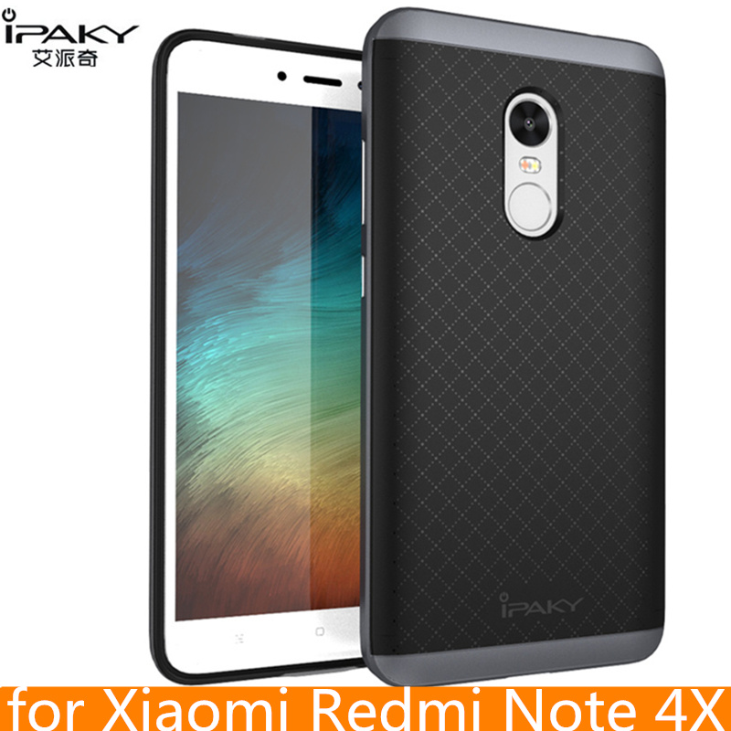 per Xiaomi Redmi Note 4X Custodia Cover protettiva ibrida originale in silicone per PC iPaky per Xiaomi Redmi Note 4 Cover