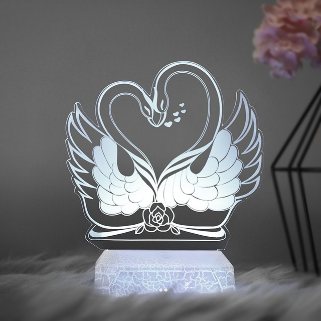 2019 Newest Remote Pegasus 3D Light LED Table Lamp Illusion Night Light 7 Colors Changing Mood Lamp 3AA Battery Powered USB Lamp