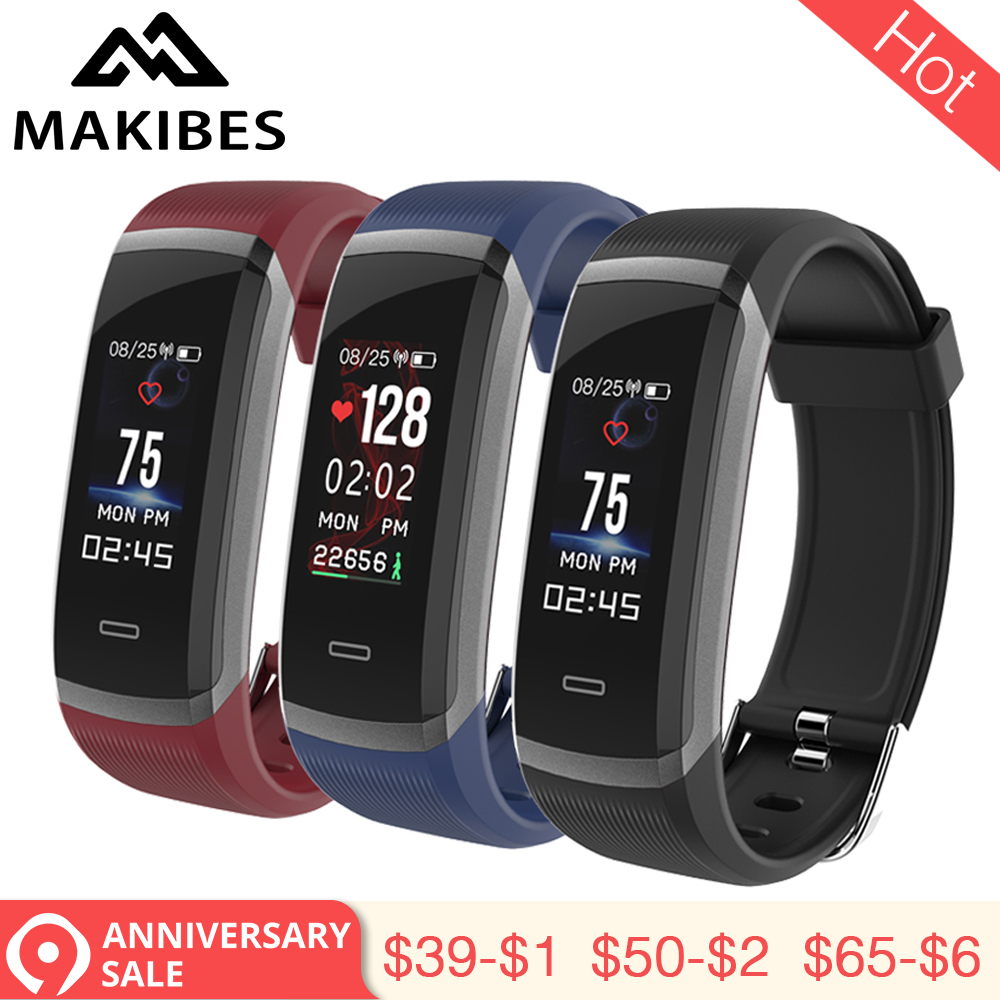 3,28 Makibes HR3 Armband Armband männer Kontinuierliche Herz Rate Fitness Tracker SmartBand für xiaomi iPhone7 Huawei PK GT101 geschenk