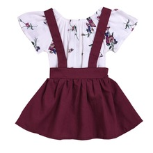 Baby Girls Birthday Clothes Floral Princess Dress Girls Suspender Skirt with Romper Photography Props Cute Baby Girls Clothes newborn photography props baby lace romper with ribbon princess costumes set infant girls clothes yjs dropship