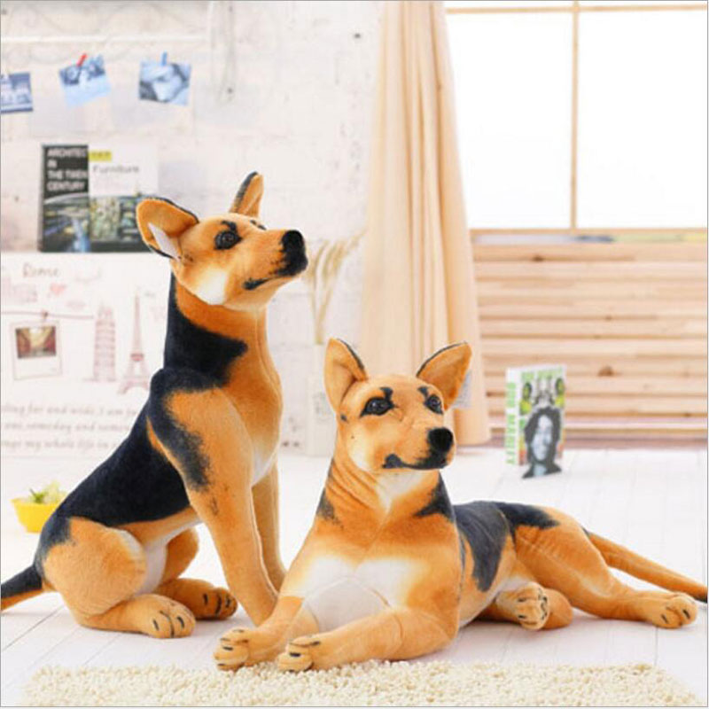 80CM Dog Stuffed Toys Plush Toy dog doll brown Color at the end of the dog home furnishings simulation of animal trade For Gift gene expression at the beginning of animal development 12