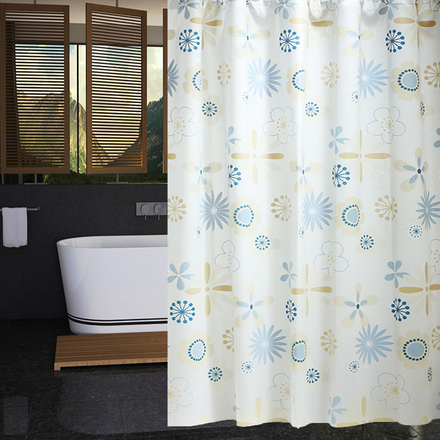 RUBIHOME Shower Curtain For Bathroom PEVA Thicken Waterproof Decor