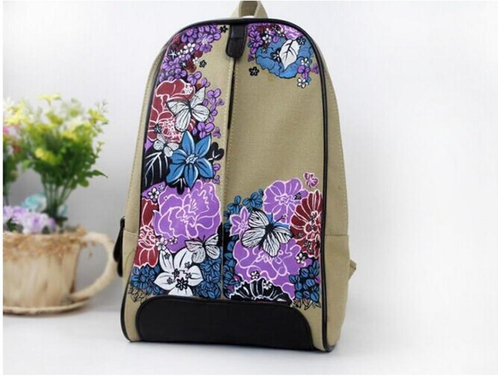 Canvas Rucksack Sırt çantası məktəb kitabı Çin Moda Retro Stil - Bel çantaları - Fotoqrafiya 4