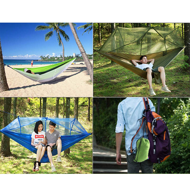 Portable 1-2 Person Outdoor Mosquito Net Parachute Hammock Camping Hanging Sleeping Bed Swing Amazing Hammock недорого