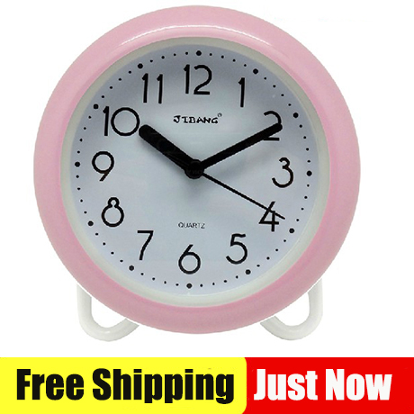 18CM Desk Bathroom Waterproof Clocks Shower 8u0027inch Wall Clocks With Table  Stander Two Functions Blue Color Clock In Wall Clocks From Home U0026 Garden On  ...