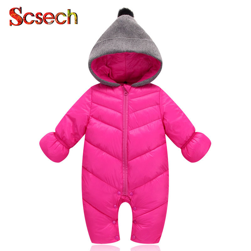 New Winter Baby Clothing Newborn Baby Girls Boys Romper Cotton Solid Warm Baby Romper Roupa Infantil ropa de bebe SKA23 2016 bebe rompers ropa pink minnie hoodies newborn long romper baby girl clothing roupa infantil jumpsuit recem nascido