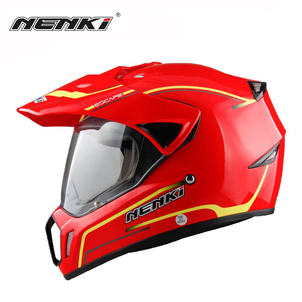 Casque de Moto NENKI casque de course Moto casque de Cross Capacetes casque de Motocross adulte tout terrain 310