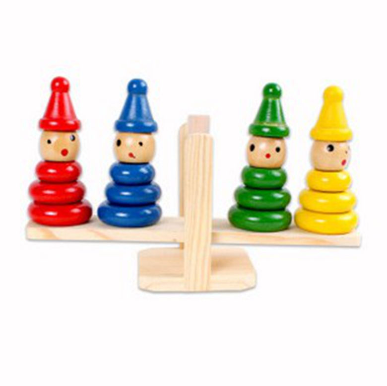 Wooden toy clown balance clown seesaw quill early childhood educational toys montessori teaching aids balance building blocks montessori wooden science material solar system early childhood education toy for family preschool teaching aids