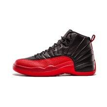 timeless design 06c45 fe339 Hot Basketball Jordan 12 Shoes XII Flu Game ovo white gym red New Black  Michigan Sports