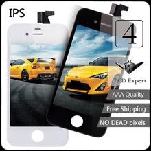 Pantalla ips aaa calidad 100% garantizada para iphone 4 4g lcd pantalla táctil con la asamblea del lcd para iphone 4 pantalla con herramientas (gsm)