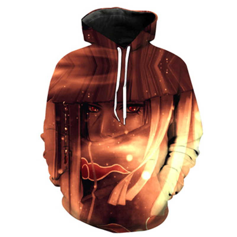 Dropshiping 3d Sweatshirts For Men And Women Hoodies With Hat Print Naruto Autumn Winter Loose Thin Hooded Sweatshirts US Size