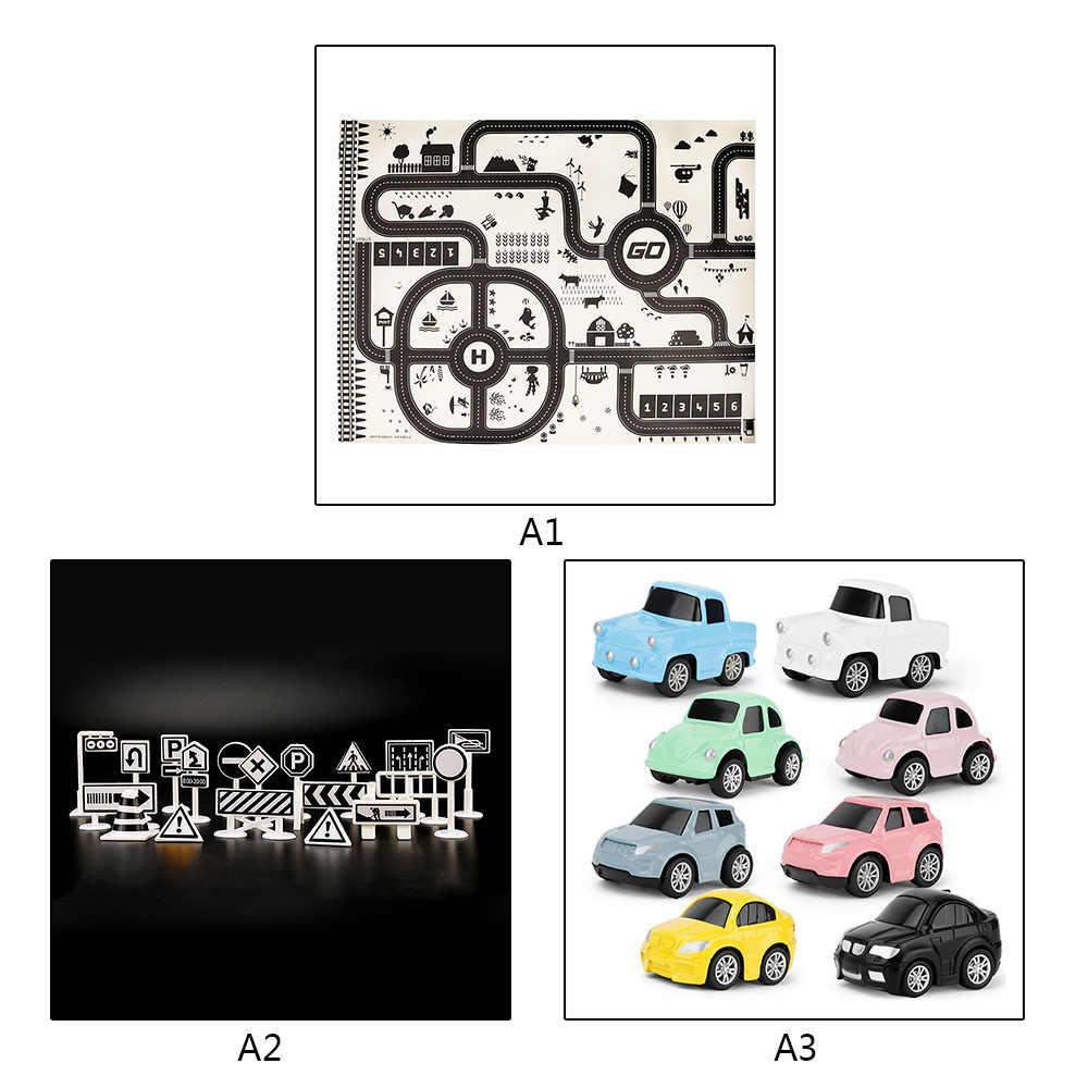 130*100 см Современный стиль дети портативный автомобиля городской пейзаж Taffic шоссе географические карты играть коврики Развивающие игрушки для детск