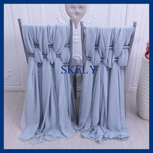 CH008C 2018 new SKFLY elegant standard chiavari light blue chiffon chair cover(China)
