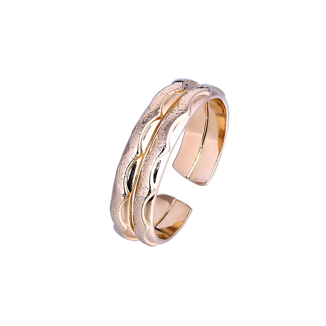 Chinse Style Fashion Car Flower Finger Rings Gold Color Open