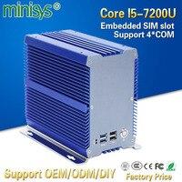 Minisys высокого класса мини Промышленные ПК Intel kaby lake core i5 7200u DDR4 ram dual lan nvidia встраиваемый компьютер с PCI
