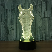 Coral Horse 7 Color Change 3d Lights Novelty 3d Table Lamps Children S Night Light Atmosphere