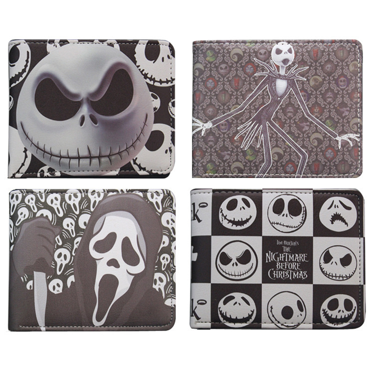 The Nightmare Before Christmas The youth cartoon wallet clip money card leather men wallets coin purses holders short purse anime cartoon wallets bifold game pokemon go pikachu wallet for teenager women men pocket monster purse coin purses holders