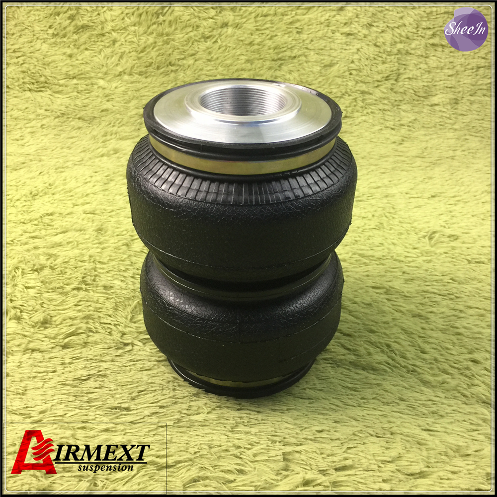 SN142187BL2-DT2-S/ Airlift 5813 Fit D2 coilover(Thread M52*1.5)/Air suspension Double bellows airspring pneumatic /airbag airlift5814 sn142156bl2 dt m50 2 fit d2 coilover m50 2 double convolute air spring pneumatic rubber air suspension air bellow