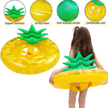 Fruit Pineapple Floats Raft Air Mattresses Life Buoy Summer Inflatable Ring Swim Pool Swimming Fun Water Sports Beach Kids Toy50(China)
